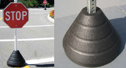 Sign Post Hole Options 2 3 8 Diameter Round O 1 4 Square 166